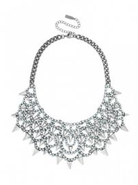 Gothic Fang Bib in Silver at Baublebar