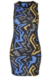 Graffiti Print Bodycon Dress at Topshop