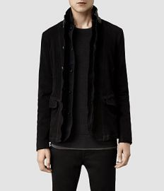 Graft Leather Blazer at All Saints