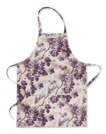 Grape print apron at Williams Sonoma