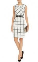 Graphic Check Dress at Karen Millen