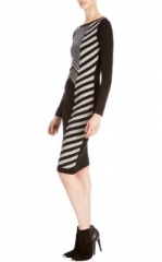 Graphic Chevron Dress at Karen Millen