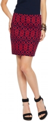 Graphic Geo Stretch Pique Skirt at C Wonder