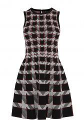 Graphic Houndstooth Dress at Karen Millen