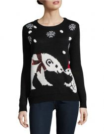 Graphic Roundneck Sweater Faith and  Zoe at Lord & Taylor