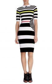 Graphic Stripe Knit Dress at Karen Millen