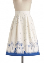 Graphic print skirt at Modcloth