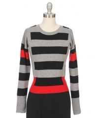Graphic stripe sweater by Autumn Cashmere at Ron Herman