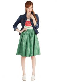 Grass is Greenest Skirt at ModCloth