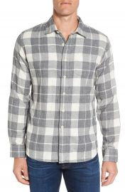Grayers Devon Trim Fit Plaid Herringbone Sport Shirt at Nordstrom