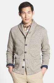 Grayers French Terry Shawl Collar Cardigan at Nordstrom