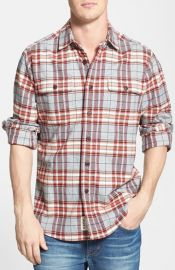 Grayers Trim Fit Heritage Plaid Flannel Shirt at Nordstrom