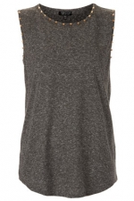 Gree studded tank from Topshop at Topshop