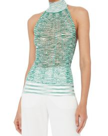 Green Knit Halter Neck Top by Missoni at Farfetch