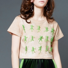 Green Lizard Crop Tee at Toy Syndrome