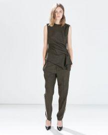 Green Side Gathered Sleeveless Top by Zara at Zara