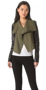 Green and leather jacket like Emilys at Shopbop