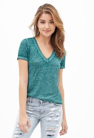 Green burnout tee at Forever 21