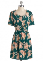 Green floral dress like Roses at Modcloth