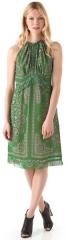 Green halter dress with ruffles by Derek Lam at Shopbop