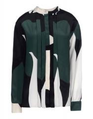 Green long sleeve blouse by Marni at The Corner