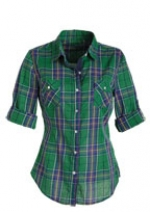Green plaid shirt like Jess at Delias