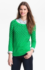 Green polka dot sweater at Nordstrom