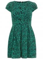 Green rose print dress at Dorothy Perkins at Dorothy Perkins