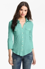 Green shirt by James Perse at Nordstrom