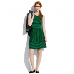 Green striped dress by Madewell at Madewell