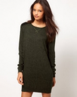 Green sweater dress from ASOS at Asos