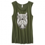 Green tank top with the same owl at Target