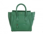 Green tote by Celine at Celine