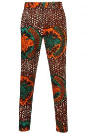 Greenleaf African print Mens Fitted trousers at Ohema Ohene