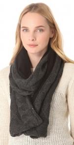 Grey and black knit scarf at Shopbop