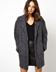 Grey boyfriend coat at Asos