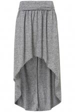 Grey dipped hem skirt at Topshop at Topshop