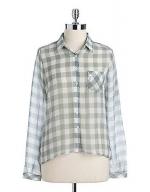 Grey gingham shirt at Lord and Taylor at Lord & Taylor