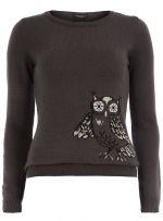 Grey owl sweater from Dorothy Perkins at Dorothy Perkins