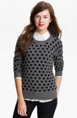 Grey polka dot sweater at nordstrom at Nordstrom