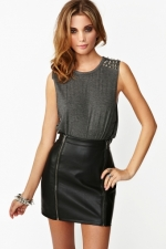 Grey studded tank top from Nasty Gal at Nasty Gal