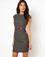 Grey tweed dress at ASOS at Asos
