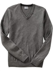 Grey v neck sweater at Old Navy