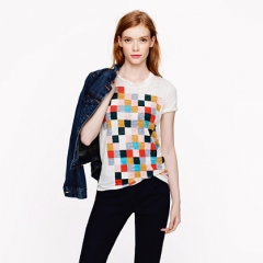 Grid Block Tee at J. Crew