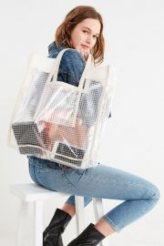 Grid Plastic Shopper Tote Bag by Urban Outfitters at Urban Outfitters