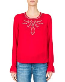 Grommeted Eyelet Lace Top by The Kooples at Bloomingdales