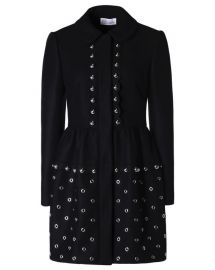Grommets and Spheres Tech Wool Coat at RED Valentino