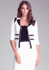Grosgrain Zipper Jacket at Bebe