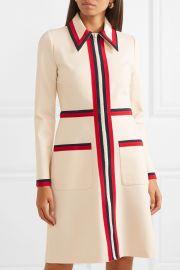Grosgrain-trimmed stretch-crepe dress at Net A Porter