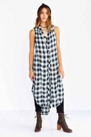 Grunge Plaid Maxi Tunic at Urban Outfitters